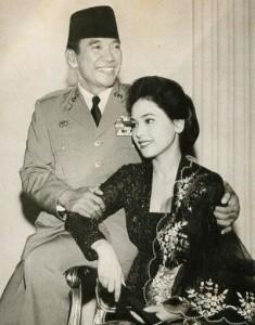 デヴィ夫人の昔の若いころの画像、スカルノ大統領と